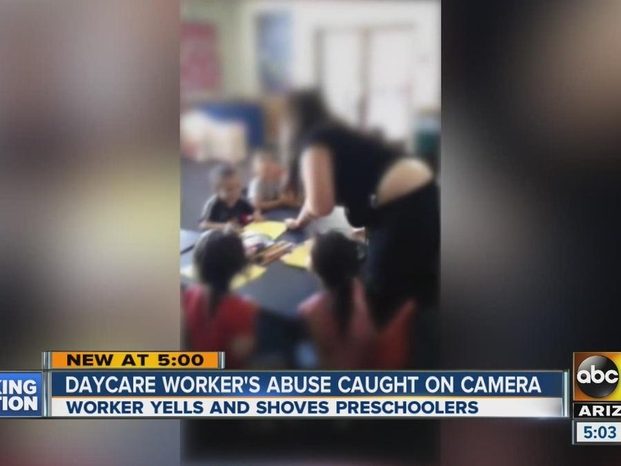 Valley daycare worker's abuse caught on camera