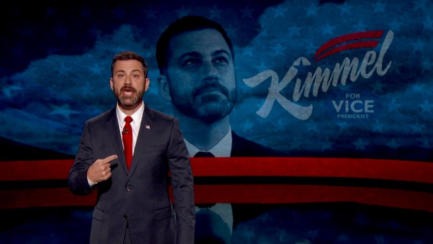 Jimmy Kimmel Discusses His Run For Vice President