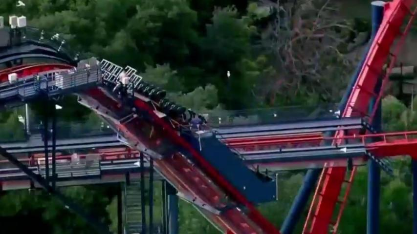 Watch: Roller coaster traps 65 passengers 200 feet up