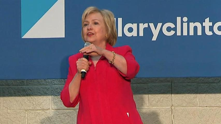 Hillary Clinton Challenges Heckler at Rally