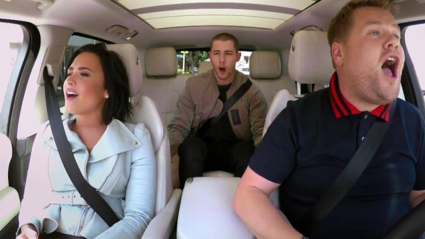 Nick Jonas and Demi Lovato Go All Out on Carpool Karaoke