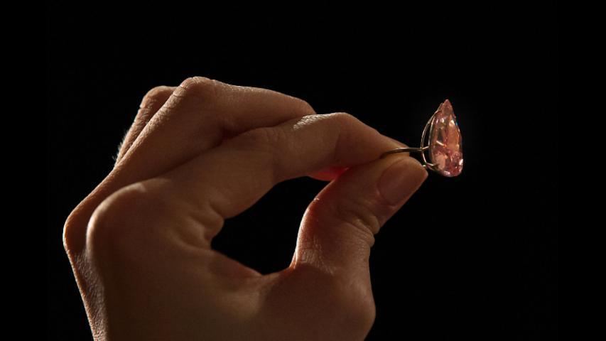 This 15-Carat Rare Pink Diamond Sold for $31.5 Million