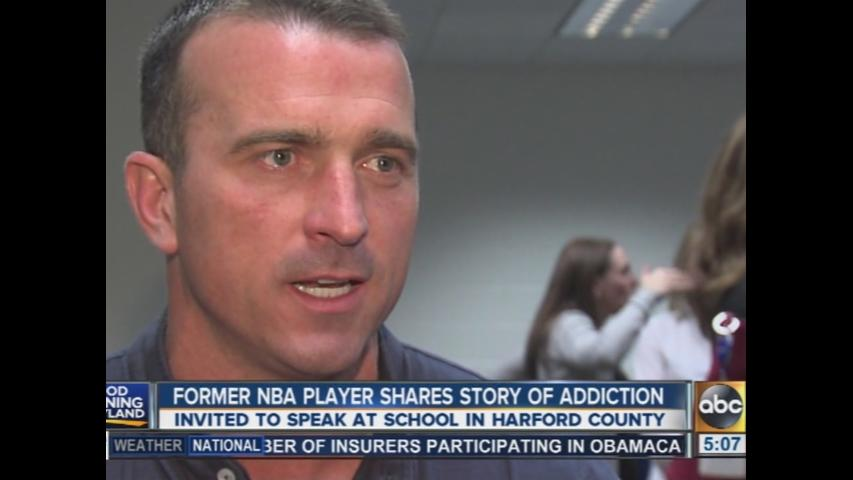 Former NBA player shares story of addiction