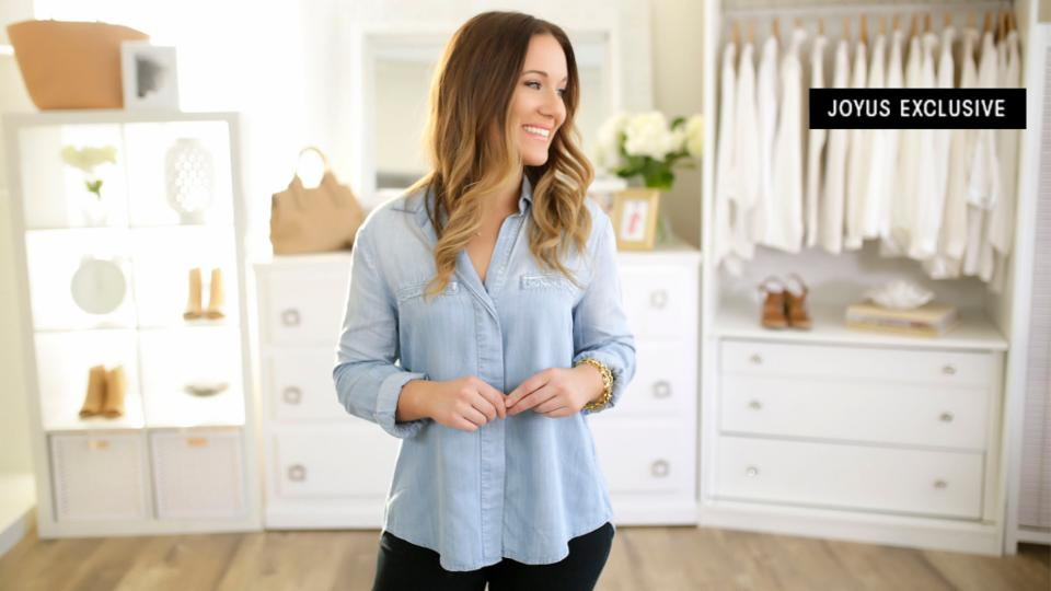 This is it: the perfect chambray shirt