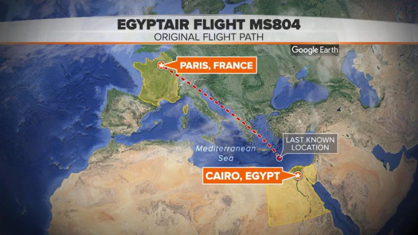 Timeline of EgyptAir Flight MS804