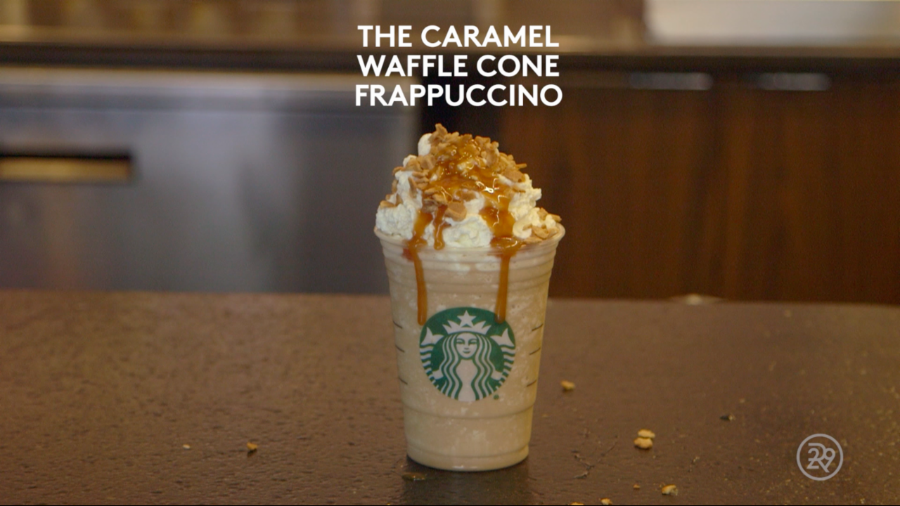 How To Make Starbucks' Caramel Waffle Cone Frappuccino