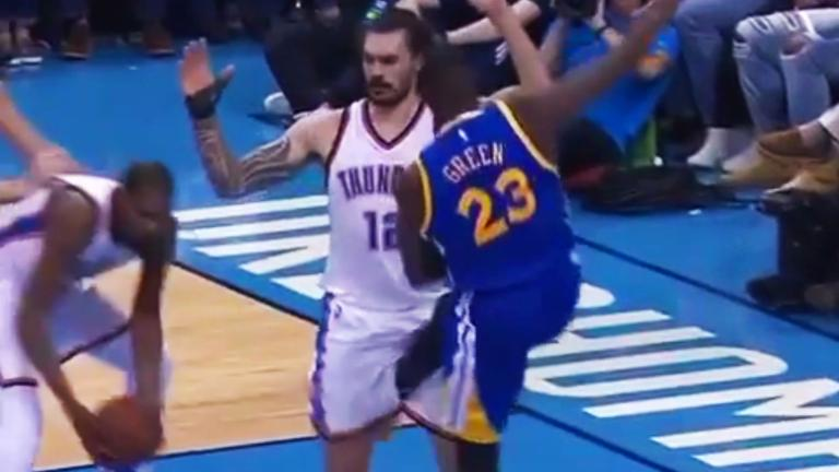 Mustard Minute: Did Draymond Green intentionally kick Steven Adams in his groin?