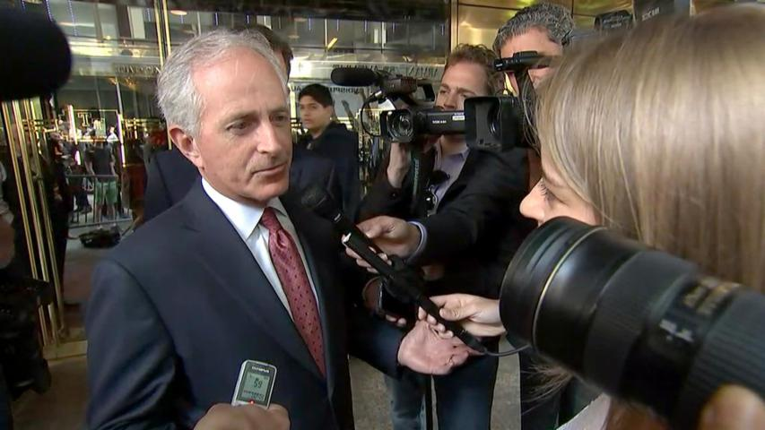 Corker downplays VP talk after Trump meeting
