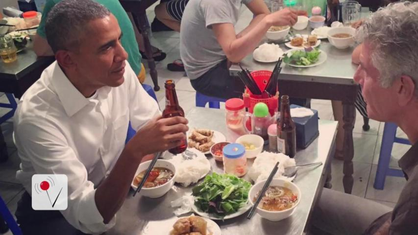 Anthony Bourdain Pays for Obama's Dinner