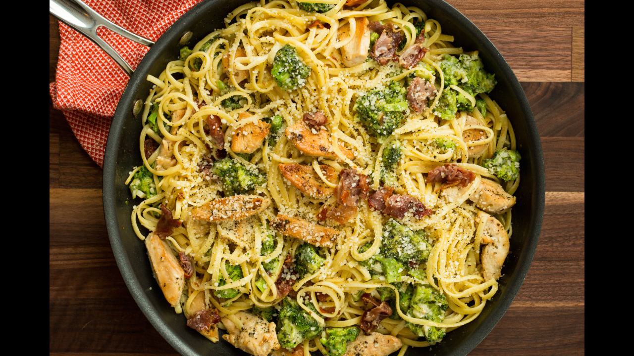 Prosciutto Chicken Linguine Recipe