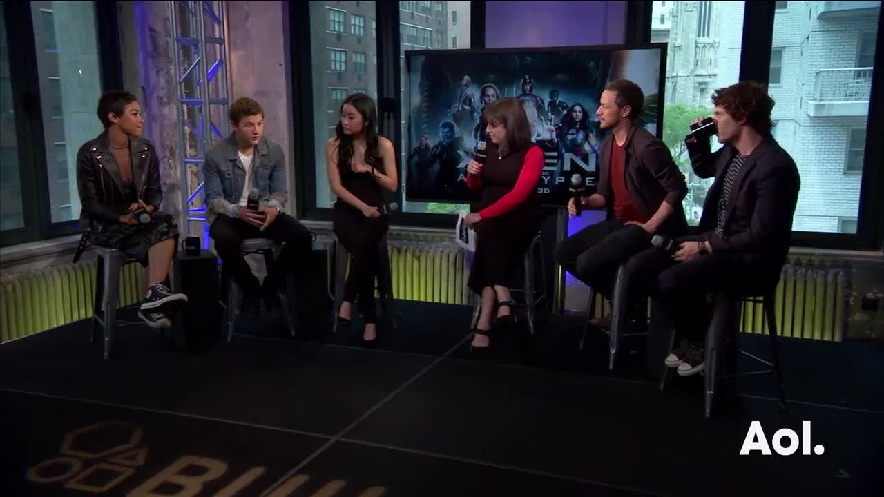 "James McAvoy, Evan Peters, Alexandra Shipp, Tye Sheridan And Lana Condor On ""X-Men: Apocalypse"""