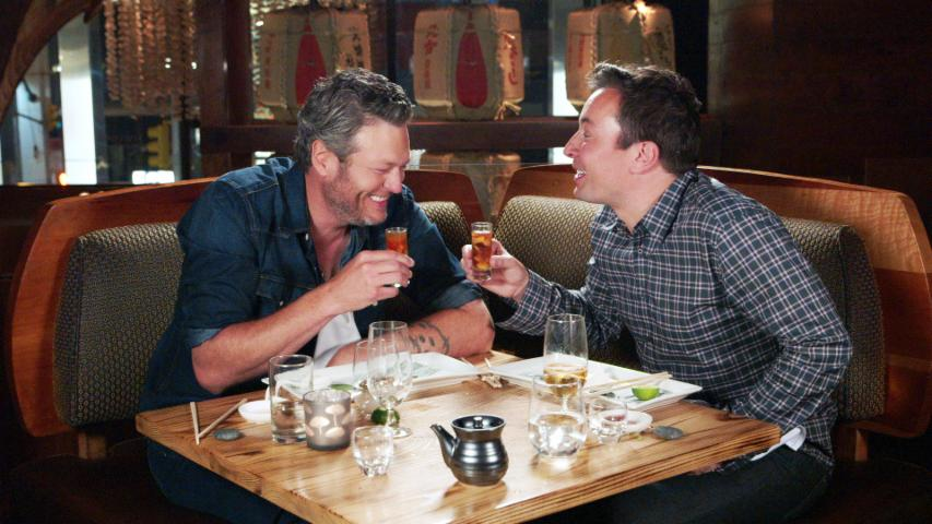 Jimmy Fallon Makes Blake Shelton Try Sushi