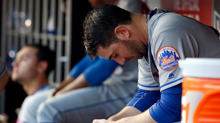 Matt Harvey struggles, skips out on media
