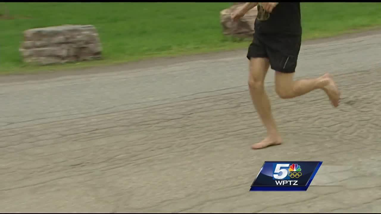 Racer has unique way of running Vermont City Marathon