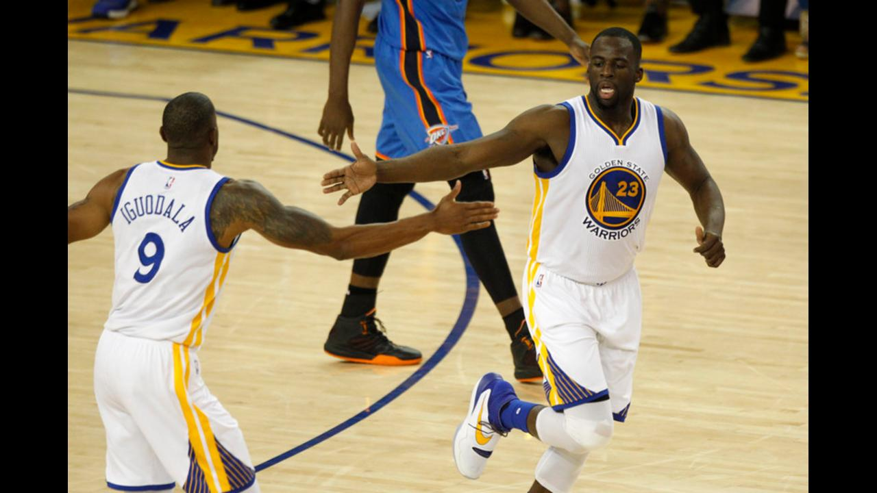 Warriors shoot past Thunder, extend West finals