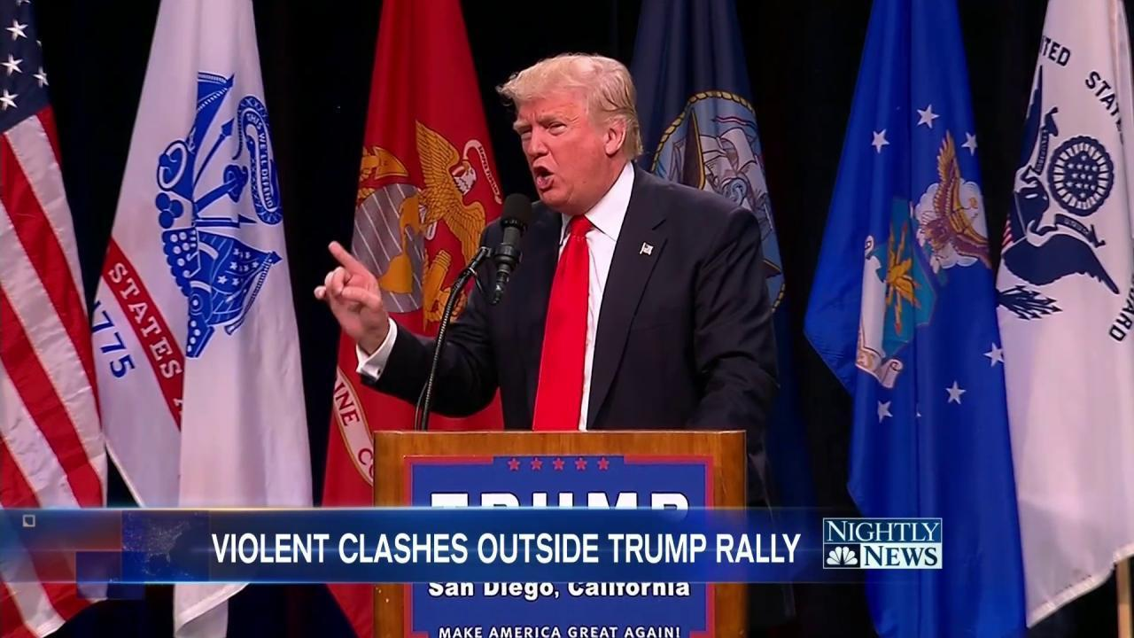 Donald Trump Shames Federal Judge at San Diego Rally Involved in Lawsuit