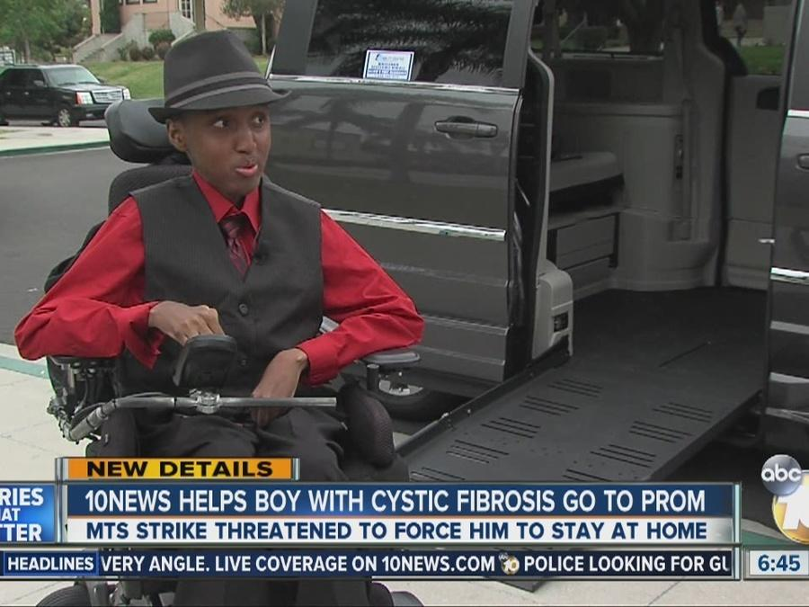 10News helps boy with cystic fibrosis go to prom