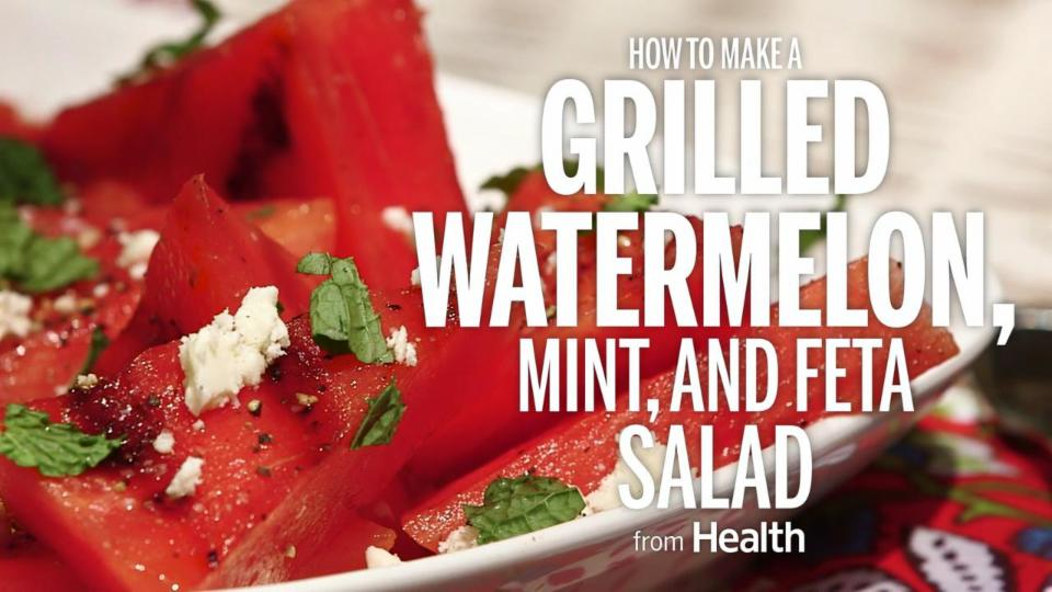 How to Make a Grilled Watermelon, Mint, and Feta Salad