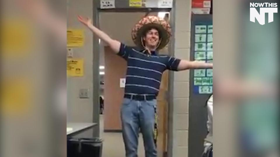 Spanish Teacher's Daily Greeting Going Viral