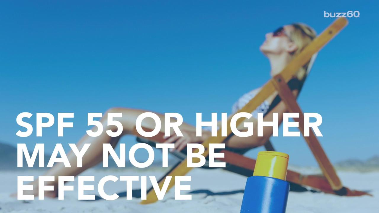 SPF 55 May Not Protect You