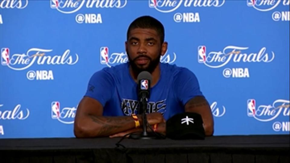 "Kyrie caught ""bits & pieces"" of West Finals, watches Family Guy instead"