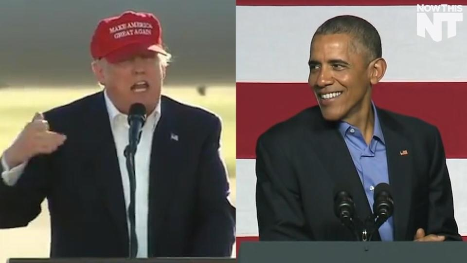 Donald Trump Goes After President Obama