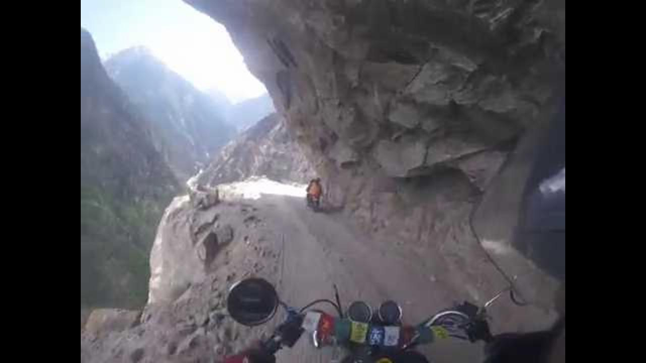 GoPro Footage From Motorbike Journey on World's Most Dangerous Road