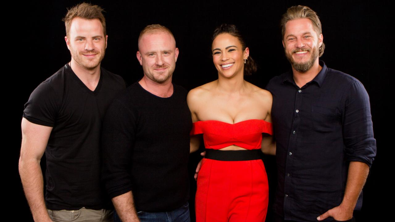 "Rob Kazinsky, Travis Fimmel, Ben Foster And Paula Patton On ""Warcraft"""