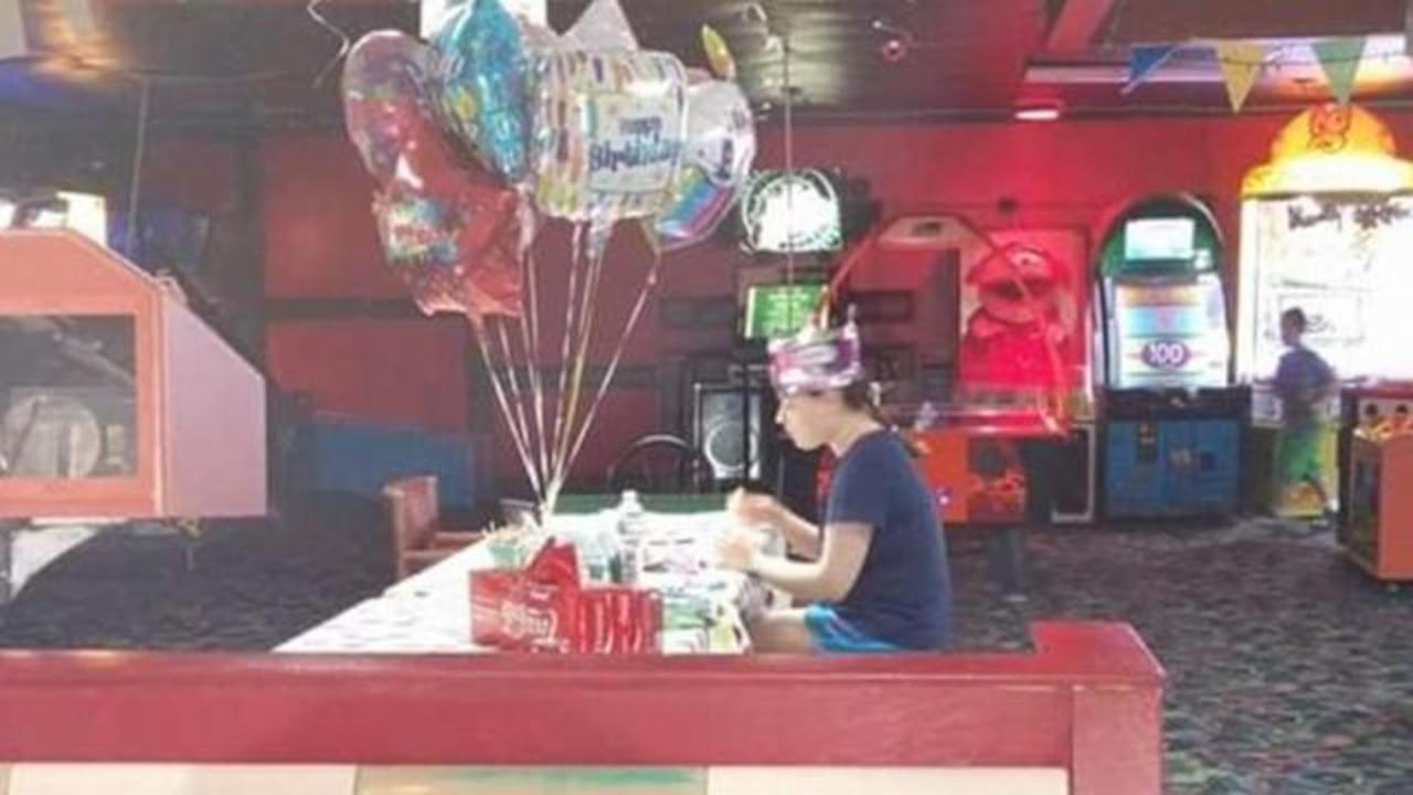 Photo Of Autistic Girl Eating Birthday Cake Alone Garners Heartwarming Response