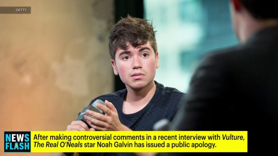 Noah Galvin Apologizes for Controversial LGBT Comments