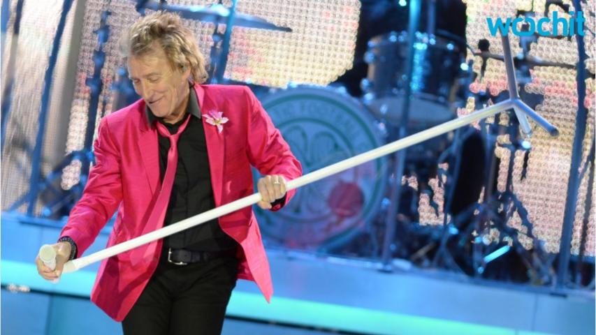 Rod Stewart Knighted By the Queen