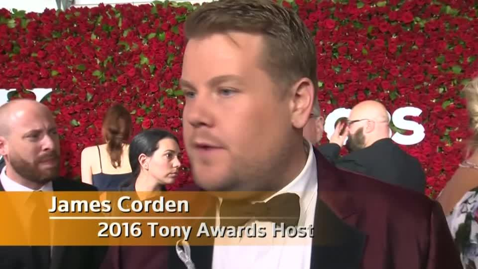 "Tony Awards host Corden says Orlando ""We are with you"""