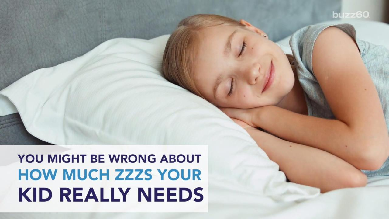 New Guidelines on How Much Sleep Your Kids Need