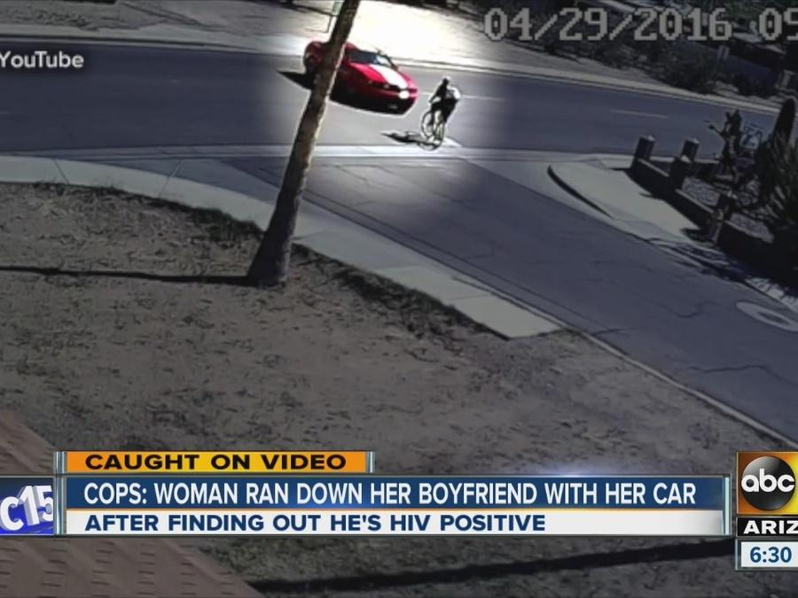 PD: Girlfriend hits boyfriend with car over HIV