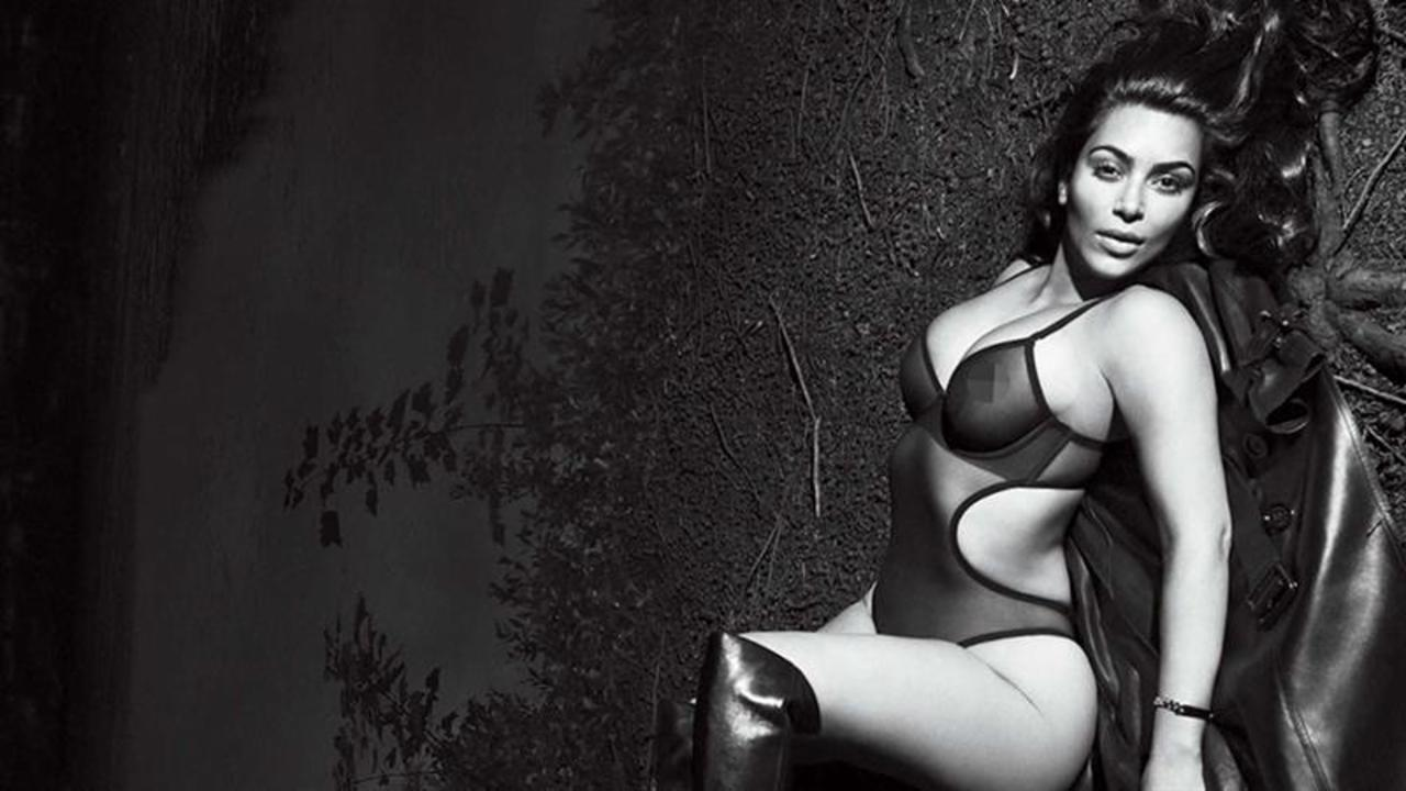 "Kim Kardashian West Strips Down for U.S. ""GQ"""