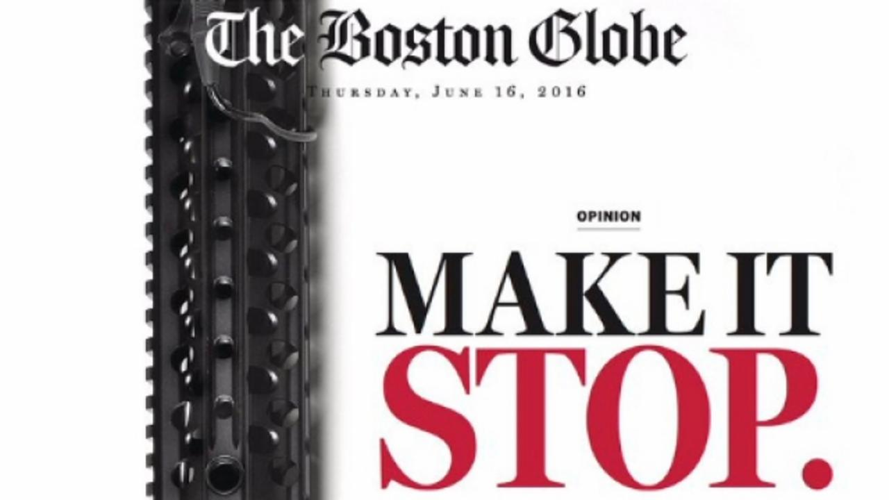 The Boston Globe Wants You to Know Exactly Where It Stands on Gun Laws