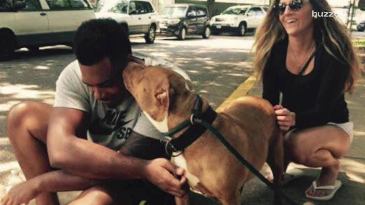 NFL Player Adopts the 'Least Adoptable Dog' at Shelter