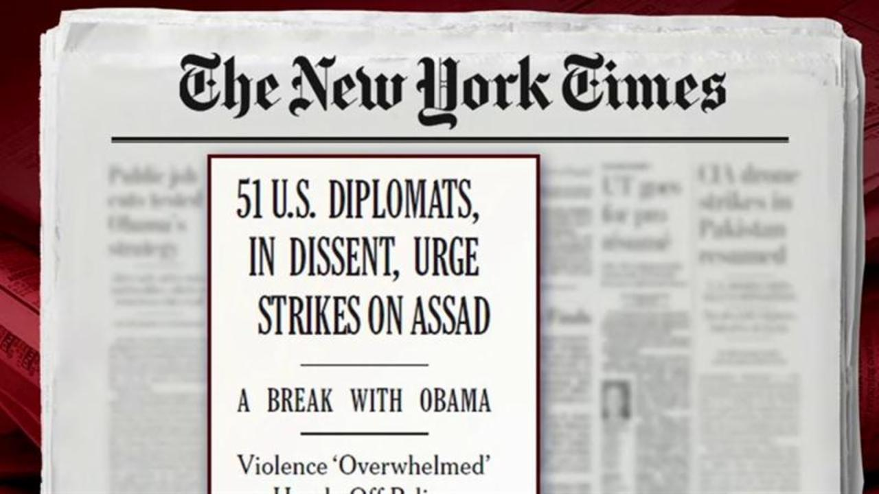 US officials urge strikes against Assad: NYT