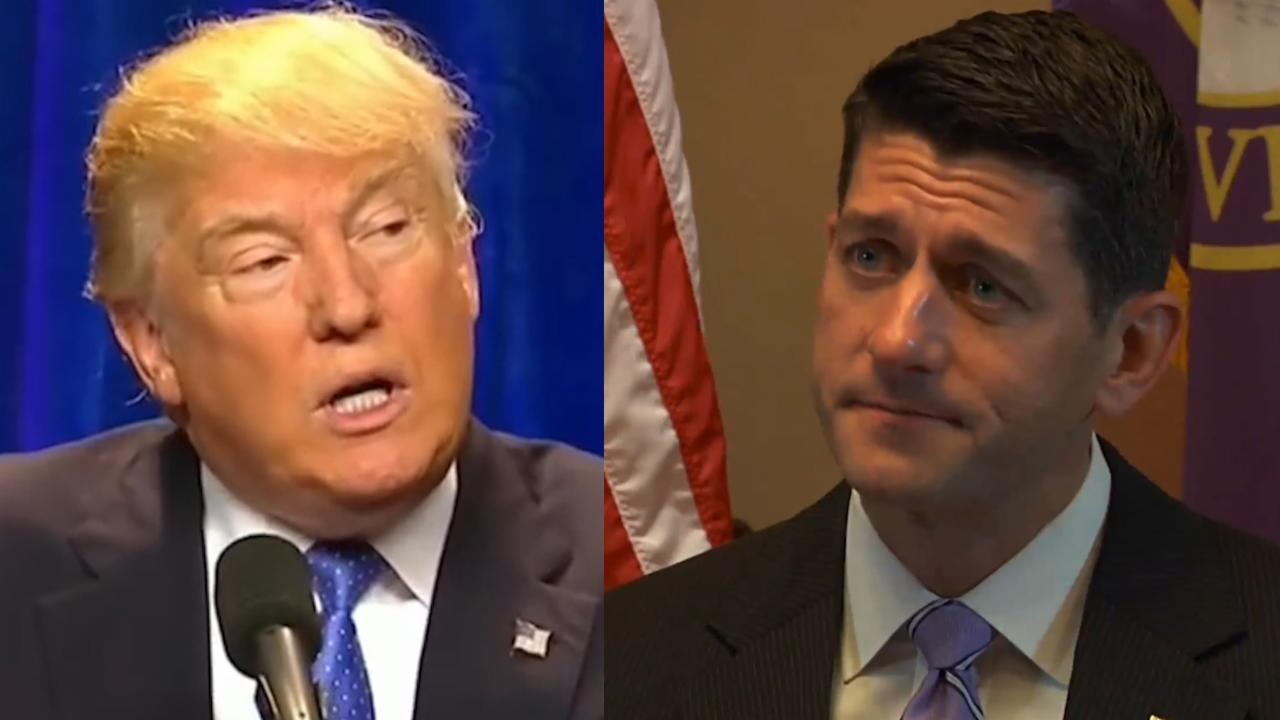 Paul Ryan Could Sue President Trump