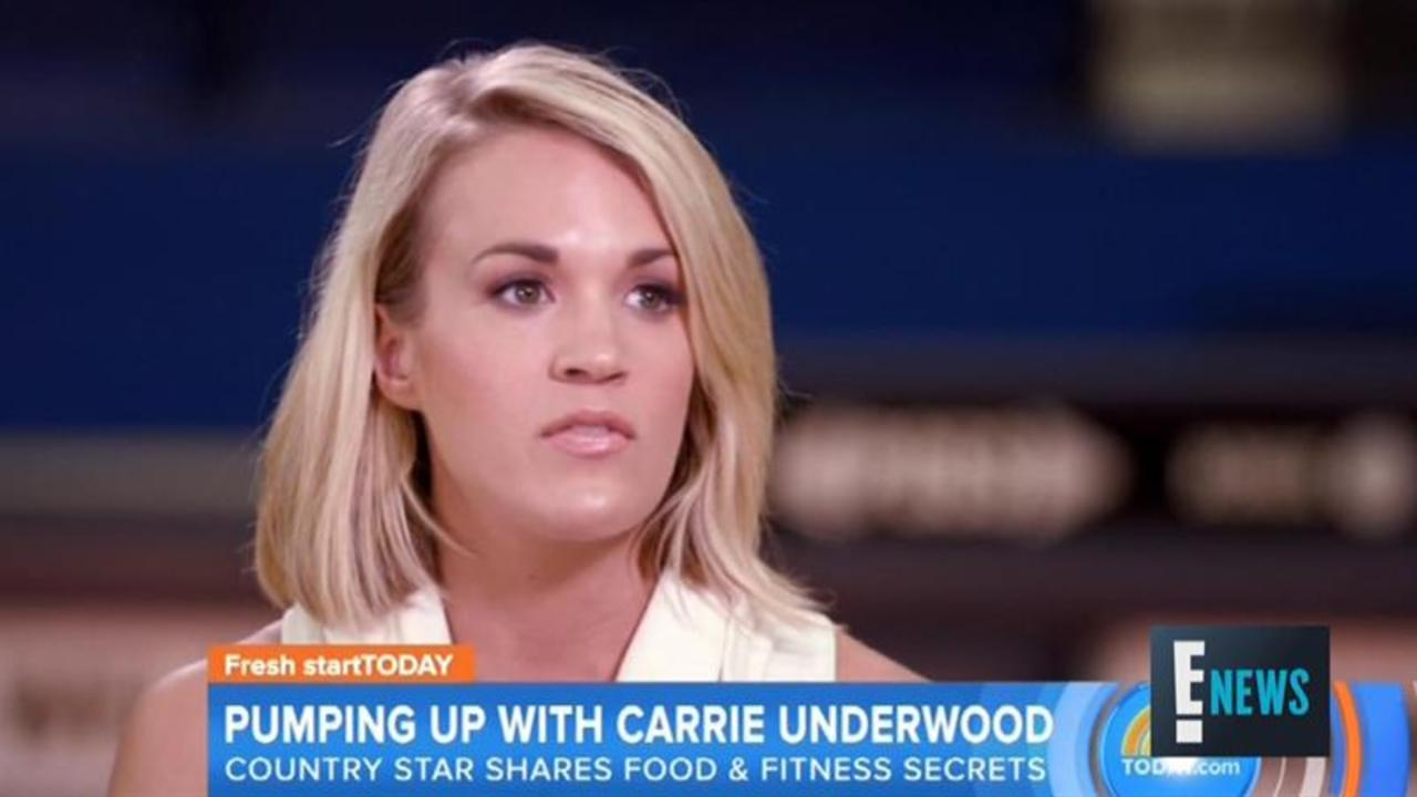 Carrie Underwood Shows off Her Workout Routine
