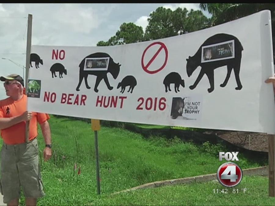 Animal advocates protest bear hunt