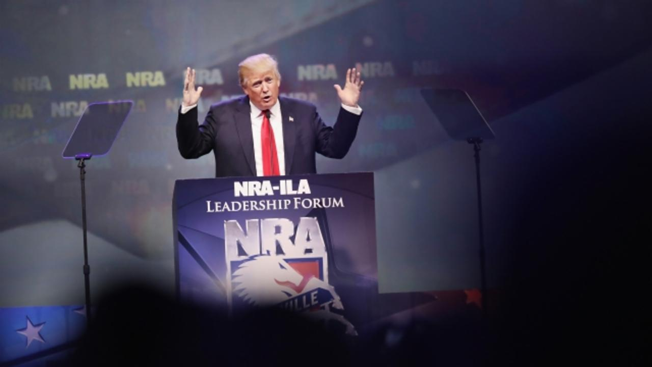 NRA and Donald Trump at Odds Over Guns in Bars
