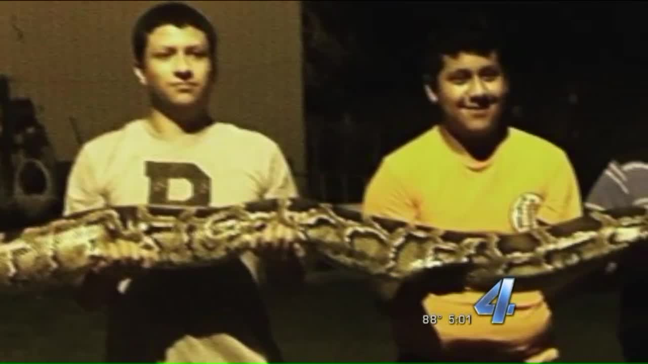 Oklahoma Teen Finds 14-Foot Python in Backyard