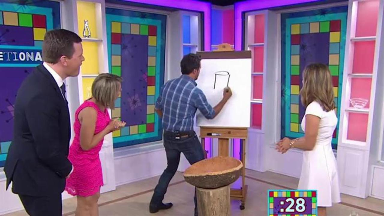 Luke Bryan reveals his drawing skills playing 'Luketionary'
