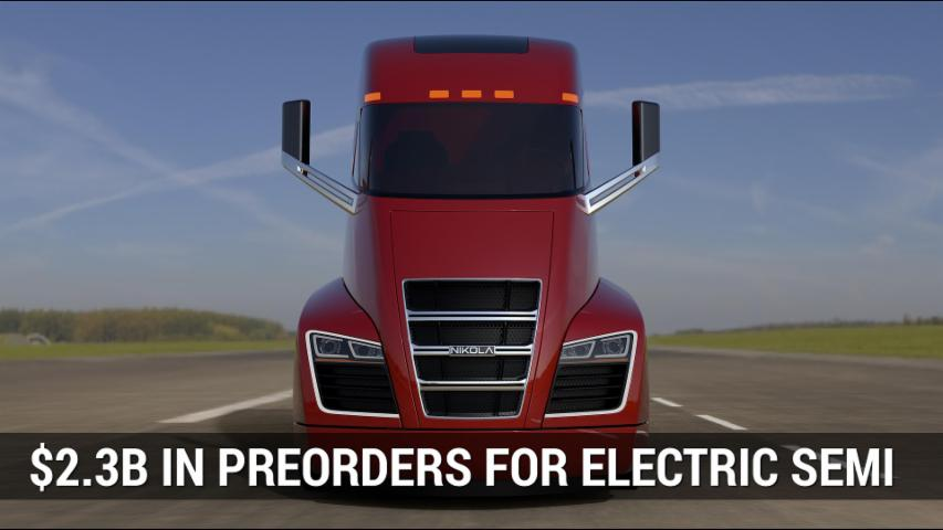 Nikola Gets $2.3B In Preorders For Electric Semi | Autoblog Minute