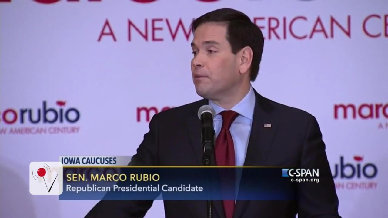 Marco Rubio Back in The Senate Race