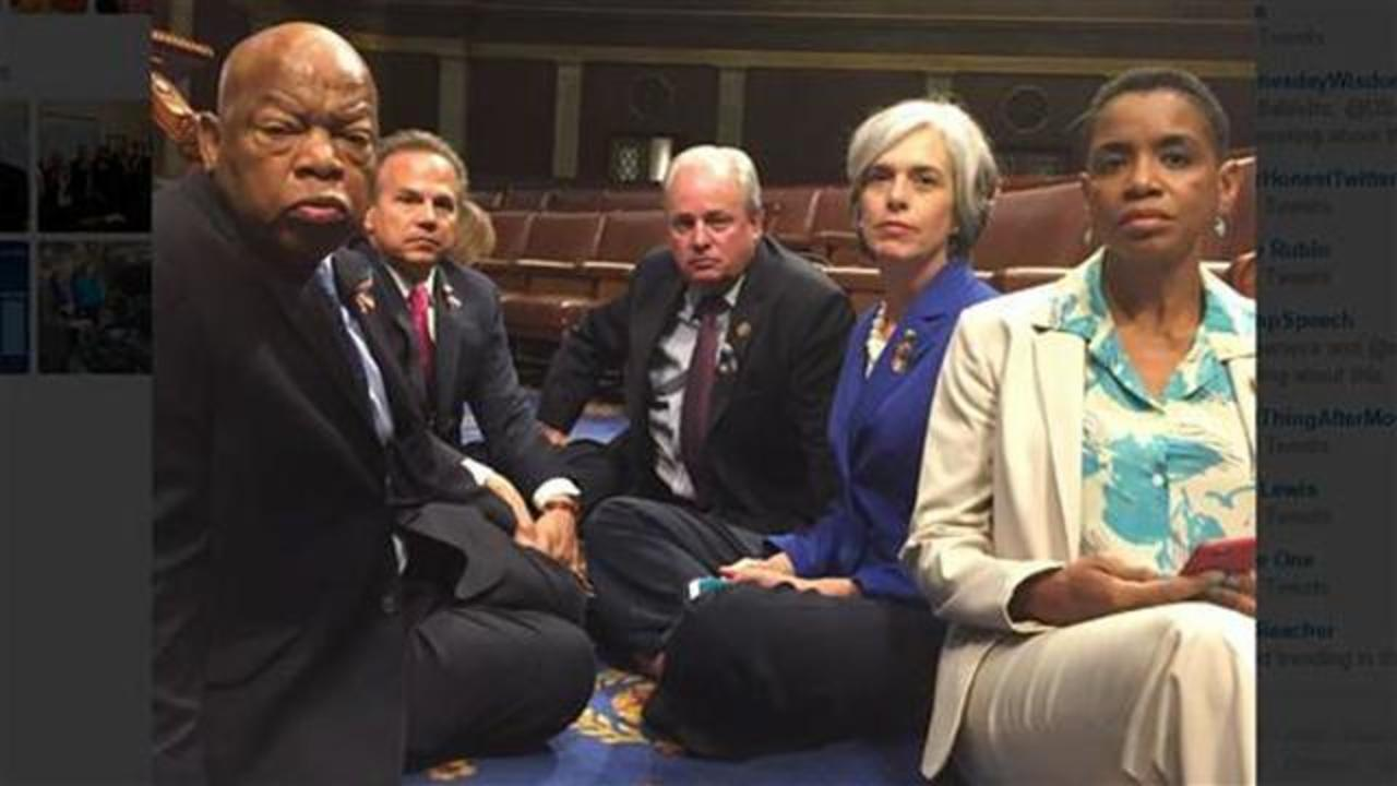 Democrats Stage House Floor Sit-In Over Gun Reform