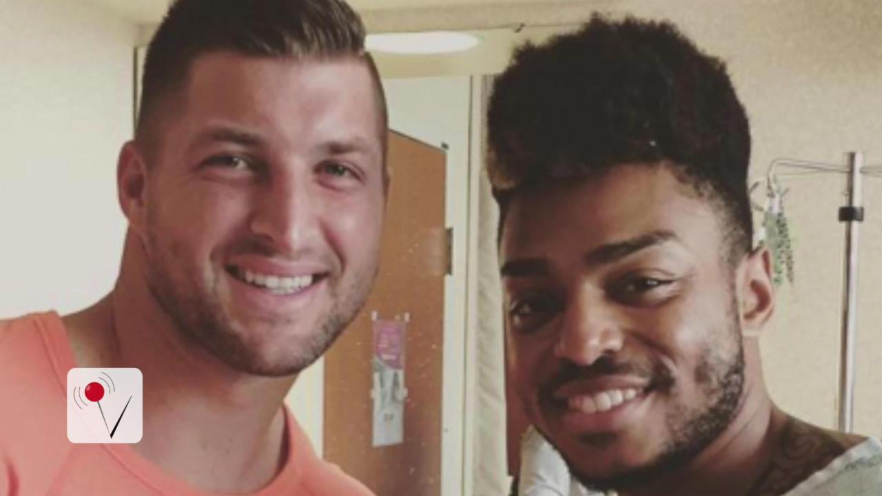 Swell Tim Tebow Visits High School Teammate Wounded In Orlando Shooting Hairstyles For Men Maxibearus