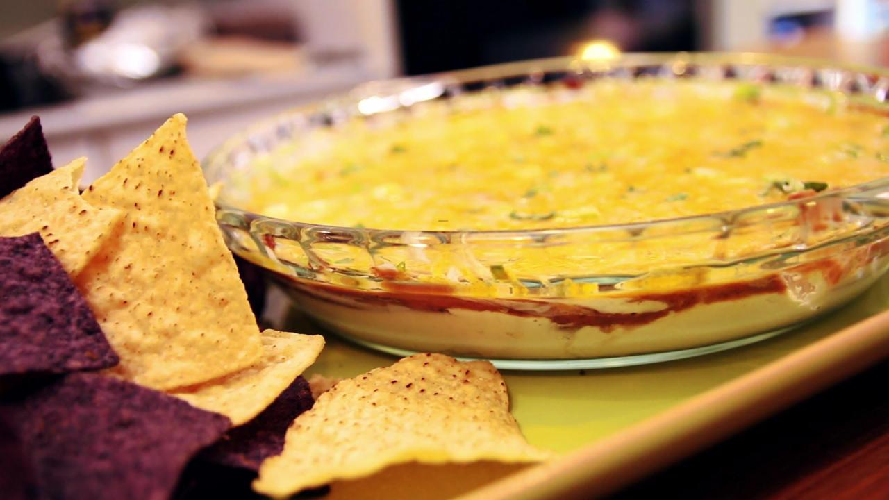 Unbelievably Cheesy Refried Bean Dip