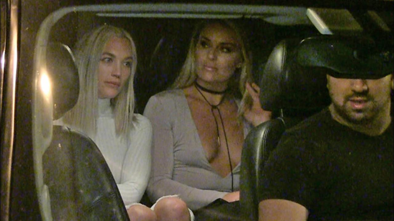 Lindsey Vonn -- Wears Most of a Shirt to Dinner